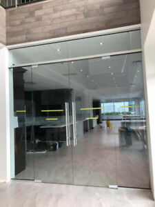 Glass Office Partition & Glass Entrance