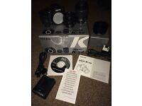 Pentax K-S2 DSLR camera+2 lenses+bag