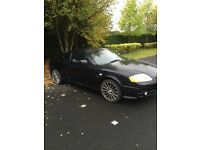 BLACK SPORTY HYUNDAI COUPE. 1.6 WITH 6 MONTHS MOT. TAXED SO CAN BE DRIVEN AWAY. 400.00 PLATE