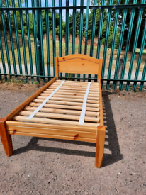 Wooden single bed frame (delivery available