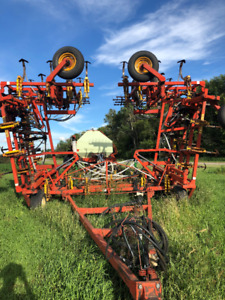 Bourgault 50' Cultivator with Morris 240 Bus Cart