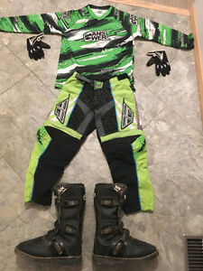 Youth dirt bike gear