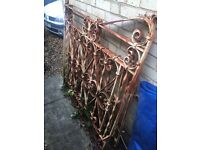 Pair of hand forged Wrought Iron gates