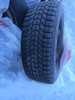 235 65R17 Firestone studded winter tires and rims