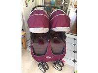 Babyjogger City Mini Double Purple - VGC