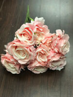 15 head Artificial Pink Roses