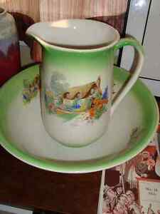 Collectible pitcher and bowl