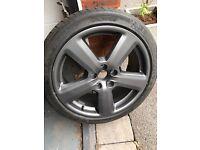 Audi 5 Spoke Wheel & Tyre