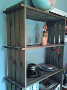 SOLID PINE BOOKCASE WITH 2-DOOR CABINET, WOODEN BOOKCASE SHELVES West Island Greater Montréal image 5