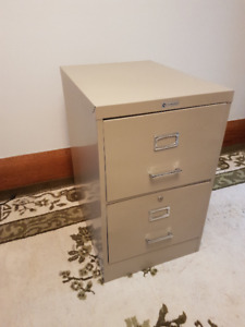File it!  All-metal 2-drawer filing cabinet