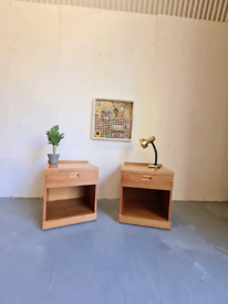 2 Mid Century Bedside Tables by White & Newton