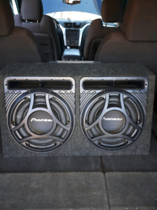 2 Pioneer subs and Infinity amp $150