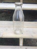 Antique milk bottles