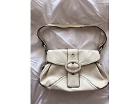 Used small white hand bag