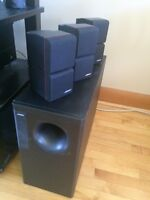 bose double cubed speakers and sub