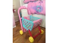 Kids Minnie Mouse Shopping Trolley and Cash Register