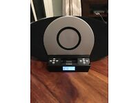 Polaroid CD Docking Station with AM/FM radio and AUX Function