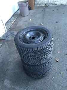 Winter tires for sale, rims already on 300$!!! West Island Greater Montréal image 2