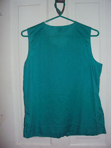 Blue Sleeveless Alfred Sung top Kitchener / Waterloo Kitchener Area image 2