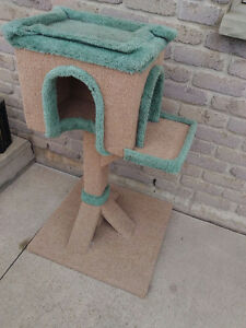 Deluxe Cat Scratch Lounge & Nest with Bed and House