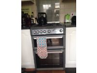 Hotpoint Gas Cooker with double oven/grill LPG ready