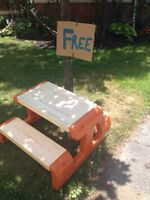 Little Tikes Picnic Table FREE