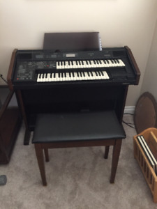 TECHNICS EX25L ORGAN WITH BENCH