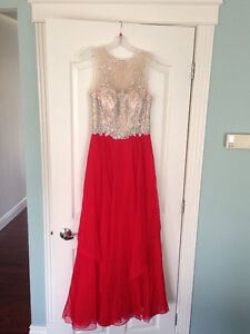 Red Alyce Prom Dress Size 4