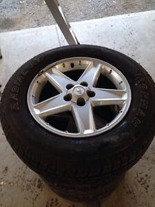 """17"""" rims with like new tires"""