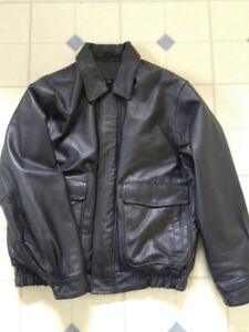 Denver Hayes Mens Insulated Leather Jacket! size L