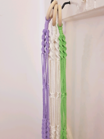 Macrame plant hangers, any colour, hook supplied