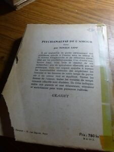 LA PSYCHANALYSE DE L'AMOUR (LIVRE ANCIENS 1959) Gatineau Ottawa / Gatineau Area image 2