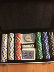 Used poker chip set for $30!