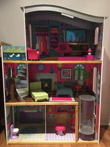 Huge Dollhouse with Furnishings