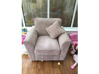 Beige armchair immaculate condition