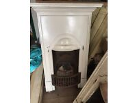 2x Victorian cast iron fireplaces