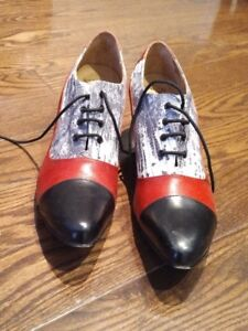 Fluevogs Red/Black and Snakeskin style - size 11