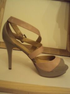 Brand new supple LEATHER Marc Fisher shoes nude & pink