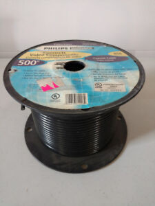 Reel Of Coaxial Cable Approx. 200-300 ft. Remaining