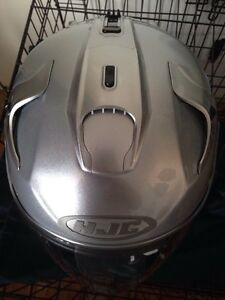 3/4 silver HJC helmet BRAND NEW Kawartha Lakes Peterborough Area image 3