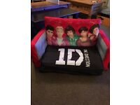Inflatable kids sofa bed