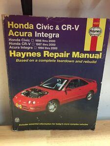 Honda Civic & CR-V & Acura Integra Haynes Repair Manual
