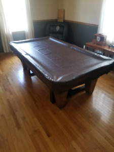 4x8 slate pool table and accessories