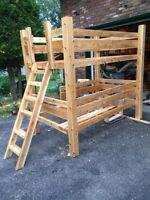 Bunk bed. White cedar