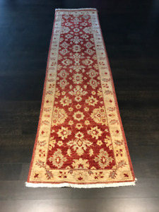 Elte Carpets ~ red and cream wool Pakistani made runner