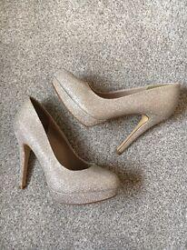 Silver sparkle NEXT shoes- size 3