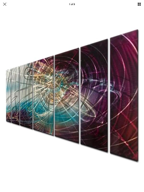 Abstract Painting on Metal Wall Sculpture Art by Ash Carl