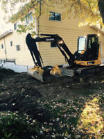 Excavating  grade beam weeping tile demolition and more