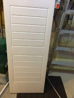 REDUCED PRICE of OVERHEAD SINGLE GARAGE DOOR TWO WHITE PANELS. A