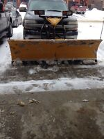 2010 fisher 8' snow plow with wings